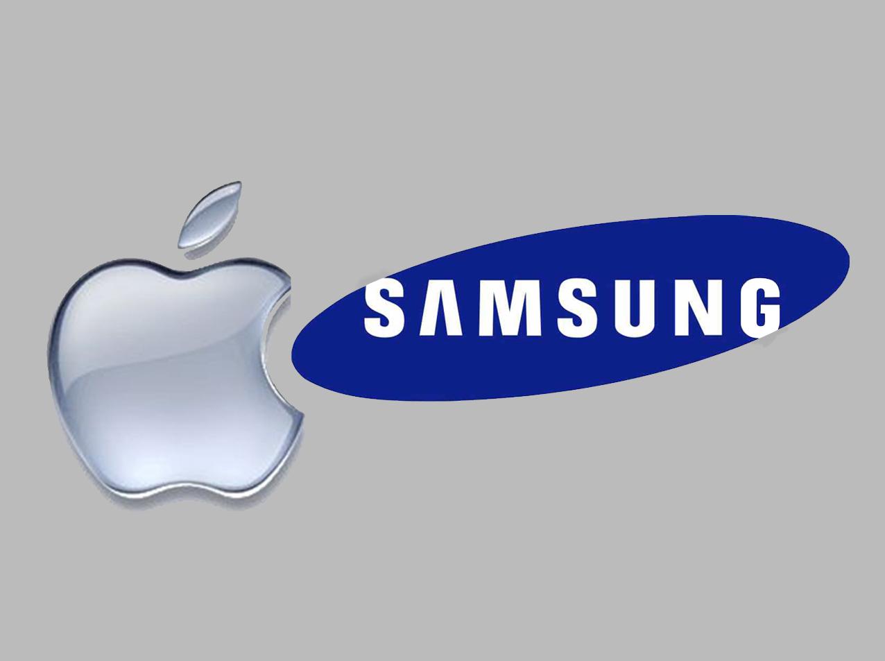 Borba titana - Samsung vs. Apple - ilustracija luckyrobot.com