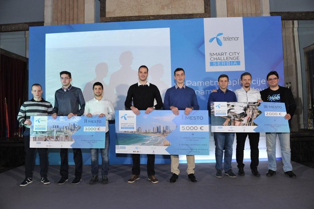 Pobednici takmičenja Telenor Smart City Challenge - foto promo