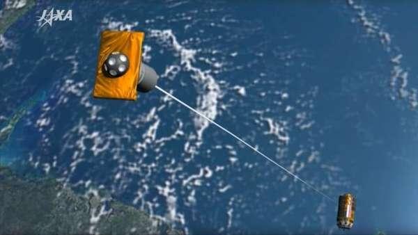 Svemirski čistač - foto credit JAXA