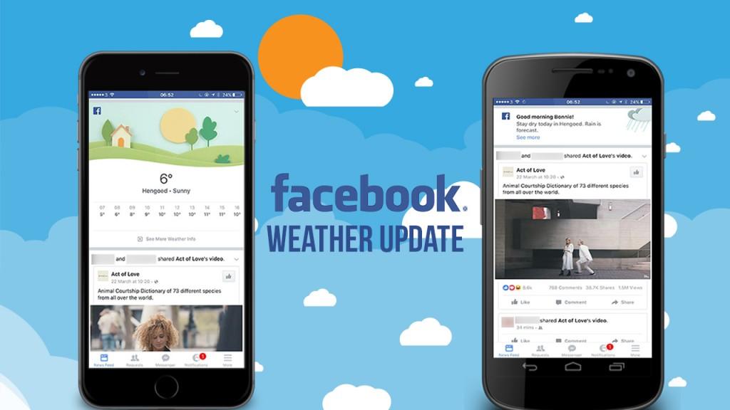 Facebook Weather Updates